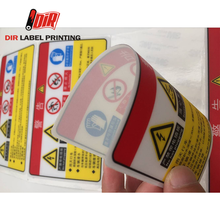 Free samples Custom adhesive waterproof printing PC Silkscreen car traffic warning sign