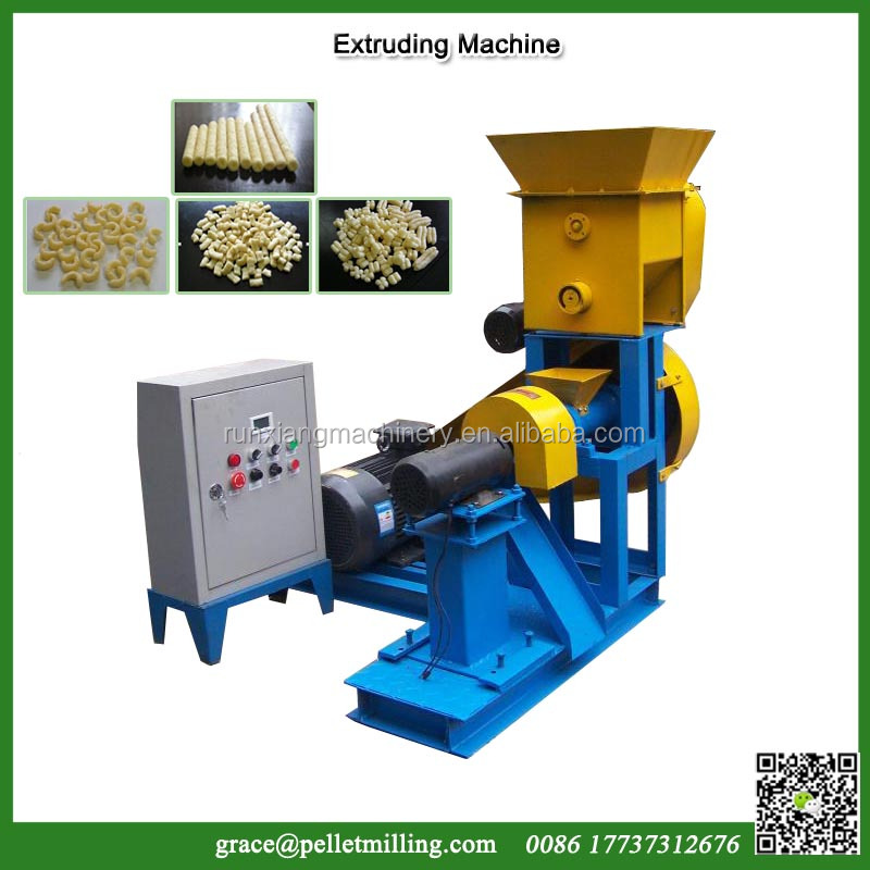 Diesel electric single screw small rice puff snack machine corn puff snack extruder