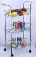 4 Tiers Metal Fruit & Vegetable Cart