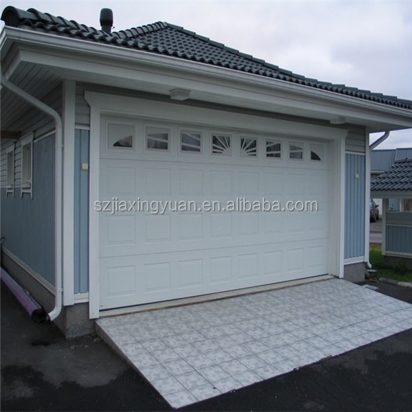 Color steel sectional automatic used garage doors sale