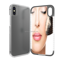 Factory Wholesale LED Selfie Light MakeUp Mirror Phone <strong>Case</strong> for iPhone X