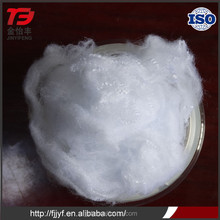 Professional supplier 6D*51mm pet flakes and polyester staple fiber