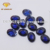 Oval shape synthetic corundum double checkerboard cut blue sapphire 34#