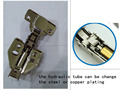 Hydraulic Nickel Plated Hinge Without Clip On
