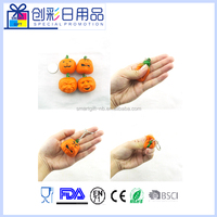 mini halloween pumpkin squishy slow rising toys for keychain