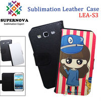 Sublimation leather Mobile Phone case for samsung galaxy s3 i9300