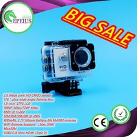 EXPLOSION MODELS SALES W8 HD 1080P UNDERWATER 30M 720p flashlight camera ultra hd wifi cameras dual screen SPORT VIDR