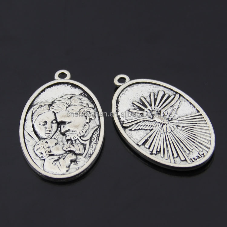 Custom Antique Silver Italy charm accessories wholesale 25x42mm