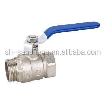 Ten years assurance with long iron handle brass ball valve and fitting polishing and CE approved