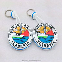 Factory prices promotional logo printed cheap custom plastic keychain