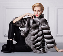 OEM Service Women chinchilla Fur Coat