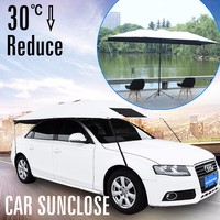 Car SUNCLOSE Factory Maple leaf umbrella static car sun shades wholesale parasol umbrella folding garage car cover