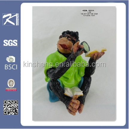 home ornaments resin material 2015 chinese new year symbol monkey statues