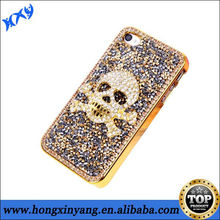 3D Skull Luxury Bling Diamond Rhinestone Crystal Case Cover For iphone 5