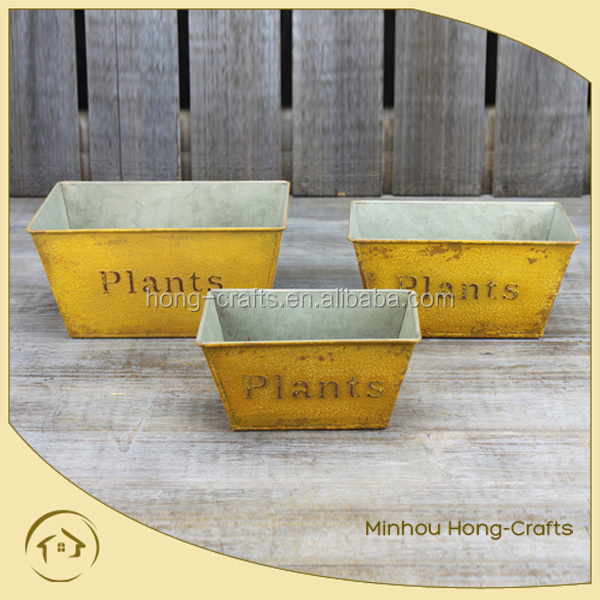 metal rectangle cheap garden planters and pots