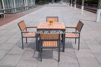 outdoor garden furniture/polywood dining table and chair/plastic wood dining set