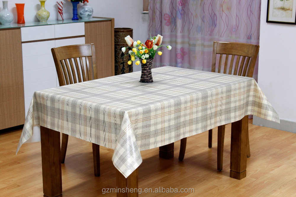 Reach Waterproof Plastic Cutting Edge square Tablecloths with vinyl