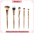 2017 Hotsale Professional 5PCS Diamond type unicorn makeup brush set