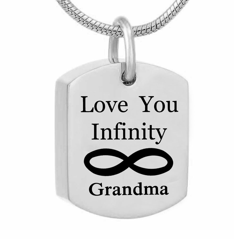 square Love you infinity MOM and DAD  Cremation Urn Necklace Pendant Funnel Fill Kit Keepsake Memorial Ashes