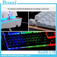 104 keys Hot Selling Multimedia Keyboard multi-color backlight gaming keyboards with floating Keycaps