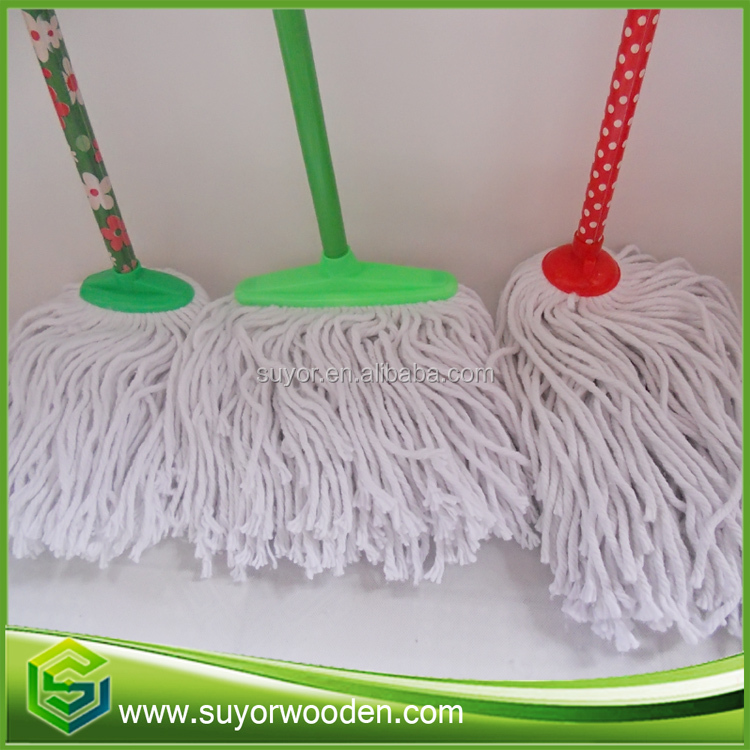 Universal Eucalyptus pvc coated and natural Round Wood Mop Stick