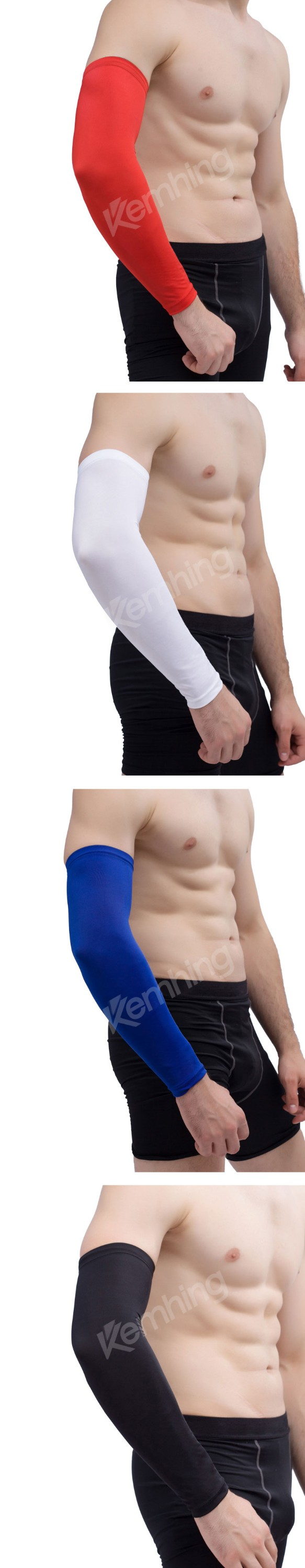 Custom compression arm sleeve Sports Black Arm Sleeves Cycling Basketball UV protector elbow sleeve