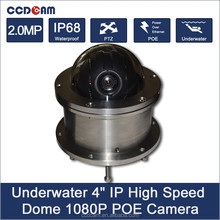 IP68 POE 1080P IP High Speed Dome CCTV Camera Outdoor Remote View PTZ Diving Keep Color 100M Underwater Fishing Camera