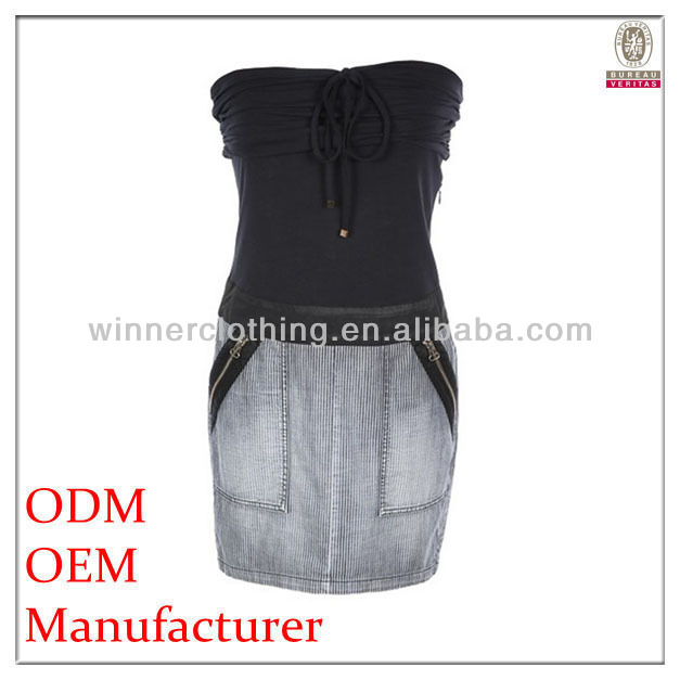 Custom OEM Service women boob tube top advanced apparel dresses