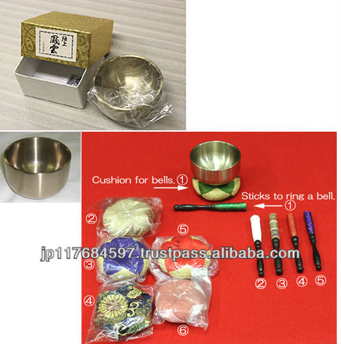 Japanese small handicraft bells for home altar or anywhere indian temple bells