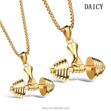 DAICY top quality stainless steel GYM fitness Dumbbells sport mens necklace pendant