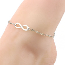 Wholesale cheap infinity alloy chain anklet fashion women beach anklet