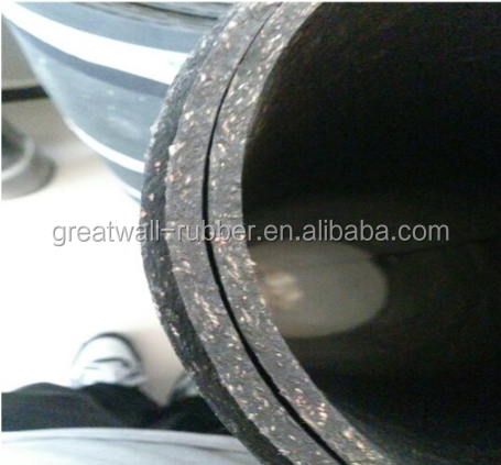Homogeneous Abrasion Masticated Fiber Reinforced Rubber Sheets