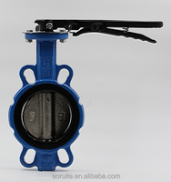 Wafer Type CF8 DISC Double Shaft Butterfly Valve WITHOU PIN