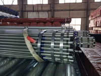Hot dip galvanized steel pipe BS1387 thread and coupling