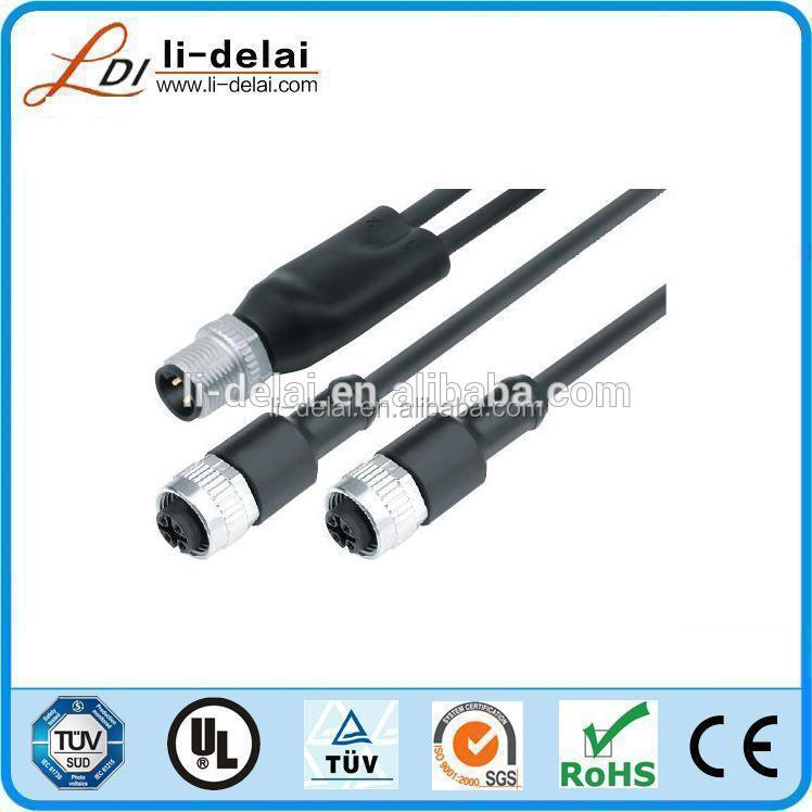 TS16949-certified female 5pin connector M12 sensor cable or wire connector