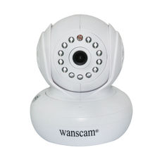 360 degree ration ip camera with sd card recording wireless/wired camera ip with P2P mobile phone 720p camera