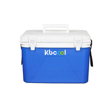medical/blood/vaccine transportation cooler box with concealed handle