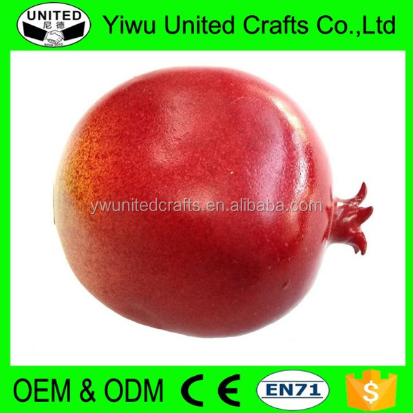 Decorative Artificial Fruit fake foam fruit pomegranate large plastic fruit