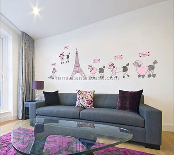Eiffel Tower Wall Sticker Kids Room Decoration
