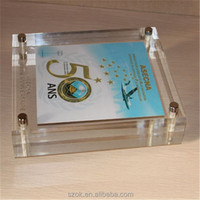 Magnetic good quality acrylic glass block for wholesaler