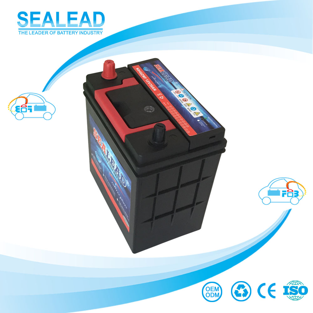 hot selling NS40ZMF 12V 36AH JIS standard lead acid maintenance free auto battery