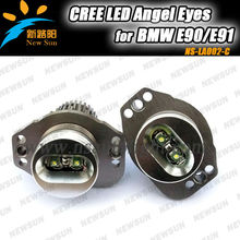 Factory Wholesale auto car light for BMW E90 LED Angel Eyes, high power 20W C REE LED marker halo ring bulbs