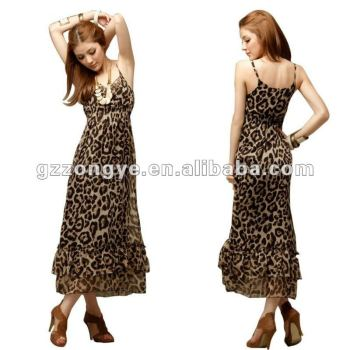 paypal accept mature women sexy night Leopard-printed women sexy dress OEM supply manufacturer