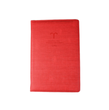 Hot Sale!!! Red Simple Fashion A5 Hardvover Custom Logo Constellation Office Diary Notebook / Red Aries Design