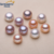 8-9mm AAA button flat round half drilled natural pink purple loose pearl cultured pearls