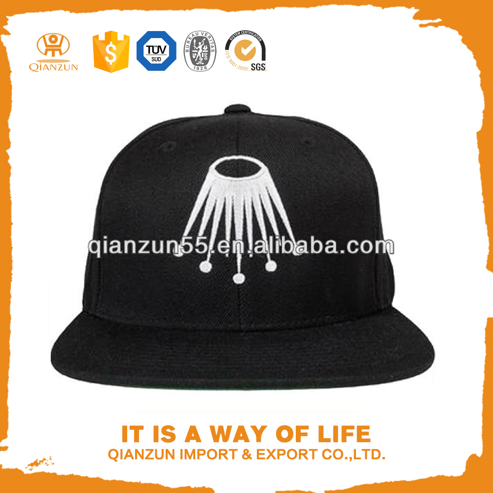 hot sell adjustable custom and images of sexy men black acrylic crown snapback cap custom embroidered patches