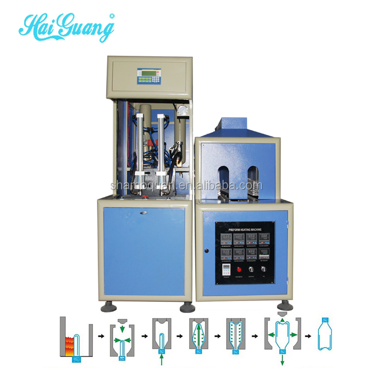 Automatic plastic balls blow moulding machine/plastic mineral water bottle making line