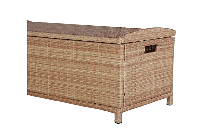 Good quality wicker cushion storage box for patio outdoor