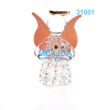 Hanging Spun Glass Blessing Angel