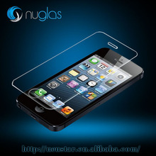 0.3mm premium Nuglass tempered glass screen protector for iPhone5 cell phone LCD screen guard film